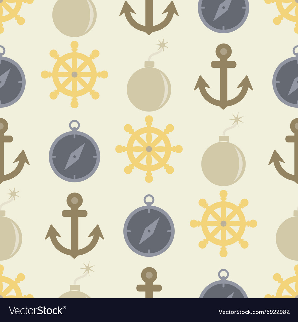 Seamless background with pirate stuff