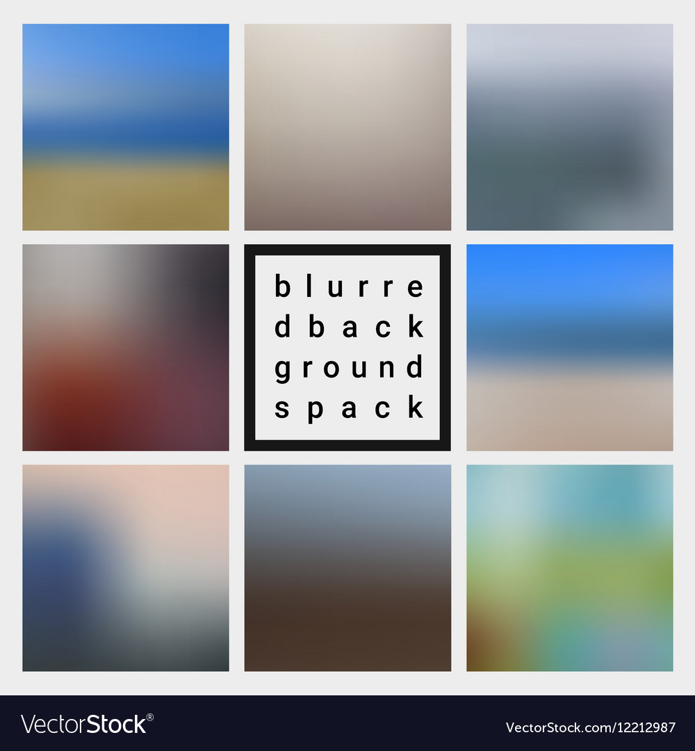Abstract blurred design backgrounds pack