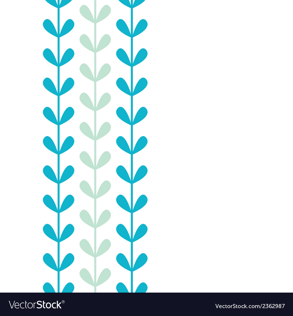 Abstract vines leaves vertical seamless pattern vector image