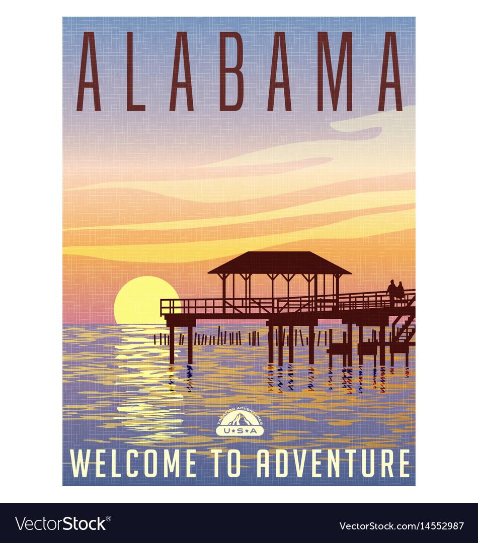 Alabama travel poster