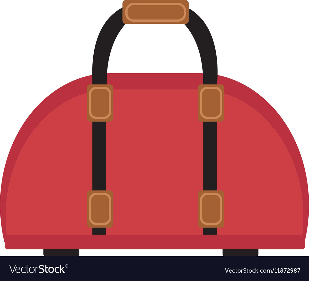 7c479937d6 Female travel bag icon flat style Women isolated Vector Image