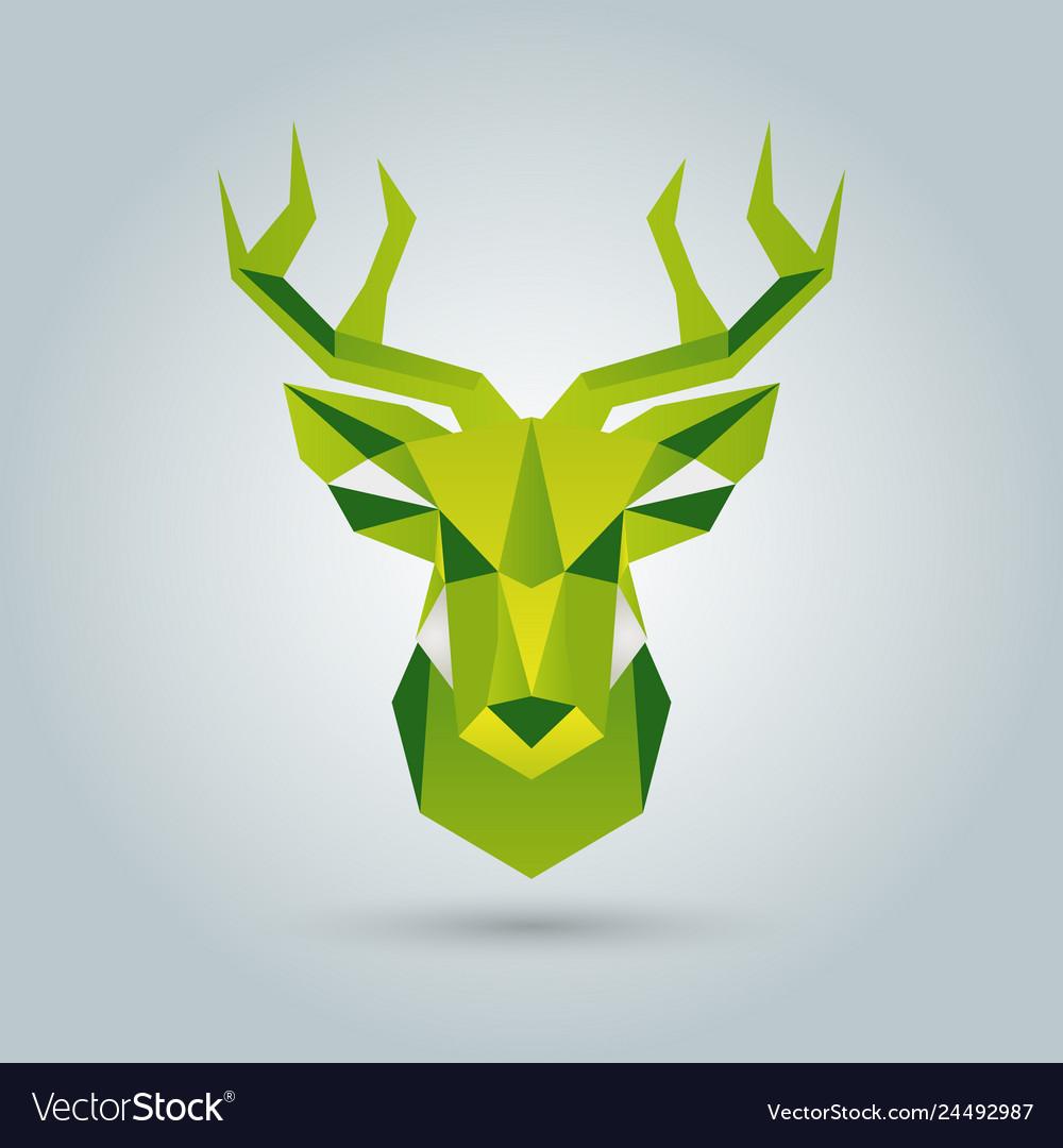 Hand deer of polygonal shapes