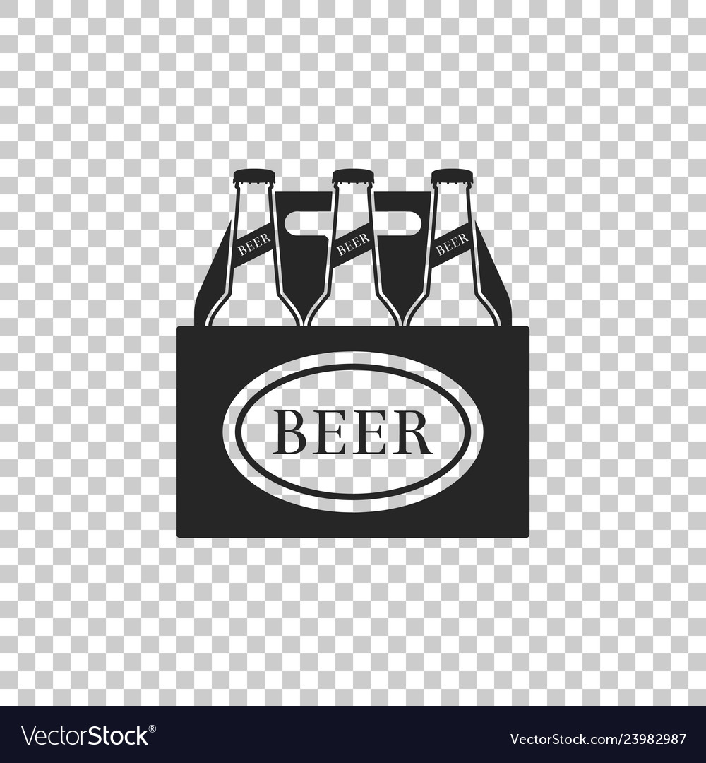Pack Of Beer Bottles Icon Isolated Royalty Free Vector Image