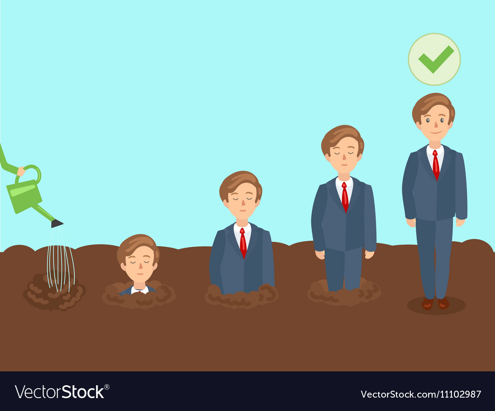 professional growth of employee cartoon royalty free vector