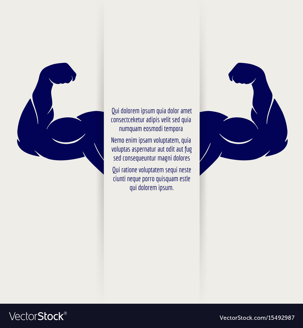 Strong male muscular banner vector image