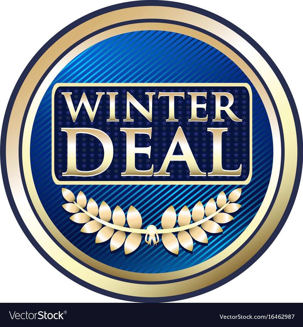 Winter deal icon vector image