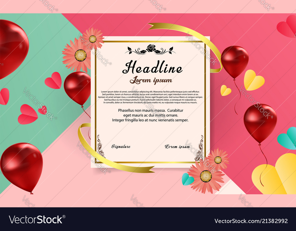 Abstract paper sheet certificate template design