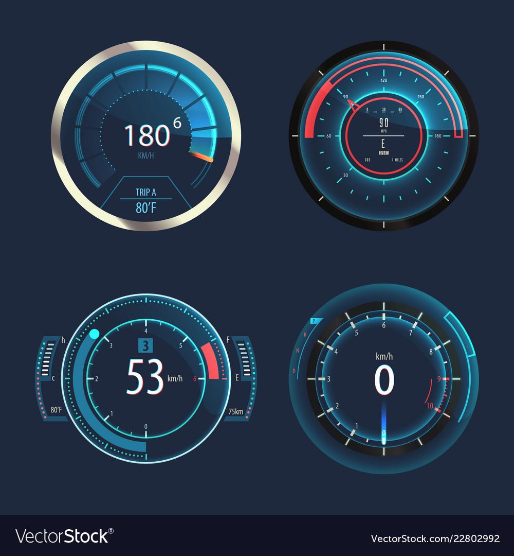 Analog speedometer odometer for car speed panel