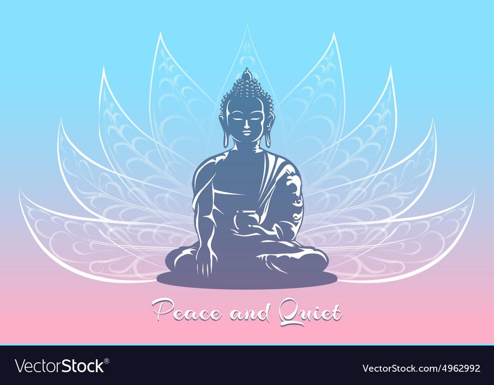 Buddha sitting in lotus pose