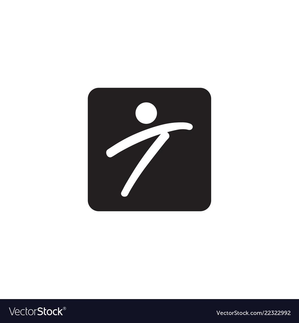 Letter t people logo