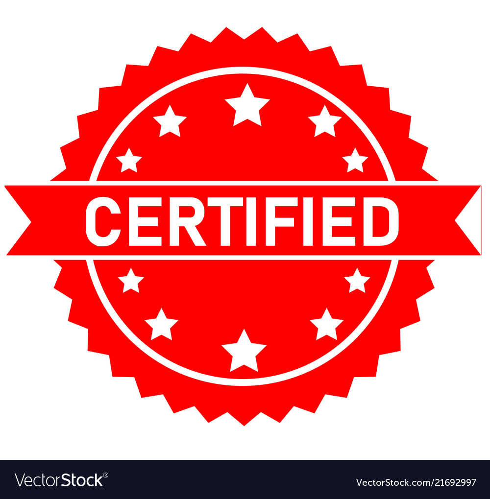 Certified medal icon on white background approved