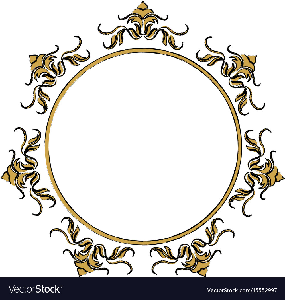floral frame border decorative design element and vector image Straight Flower Border Clip Art