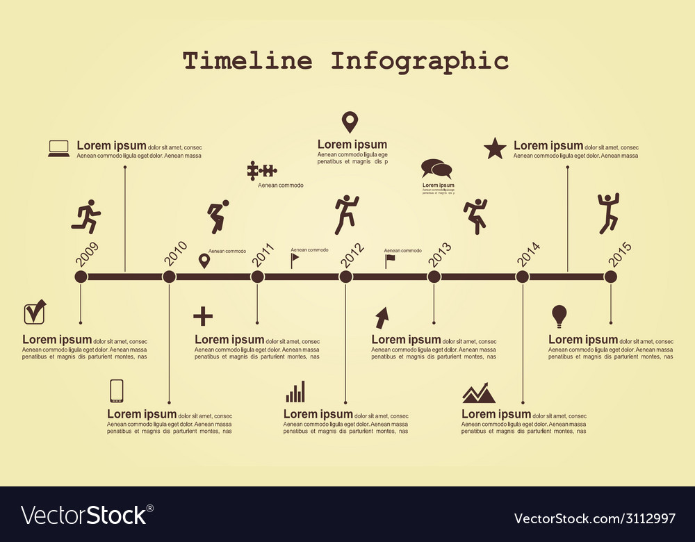 Infographic timeline elements with icons