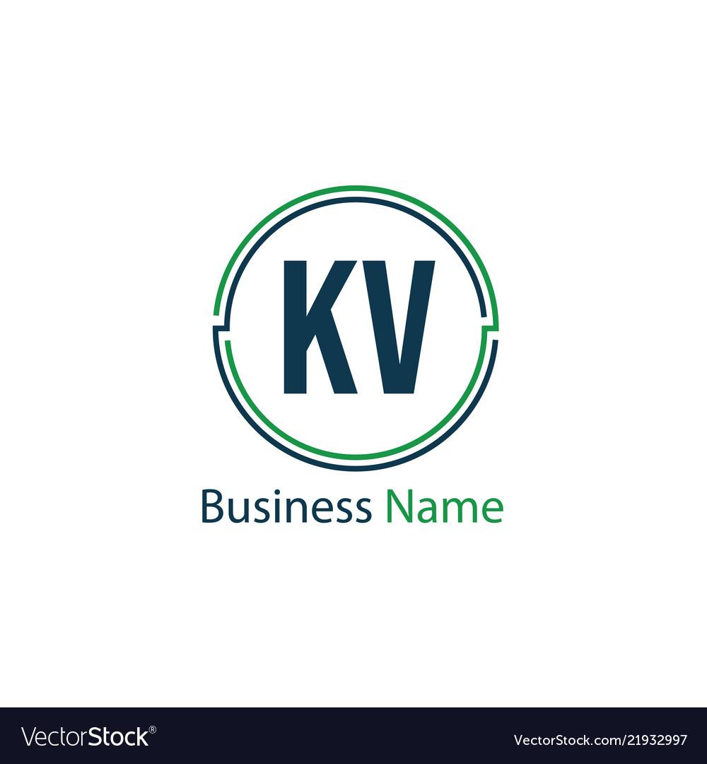 Initial letter kv logo template design royalty free vector initial letter kv logo template design vector image flashek Choice Image