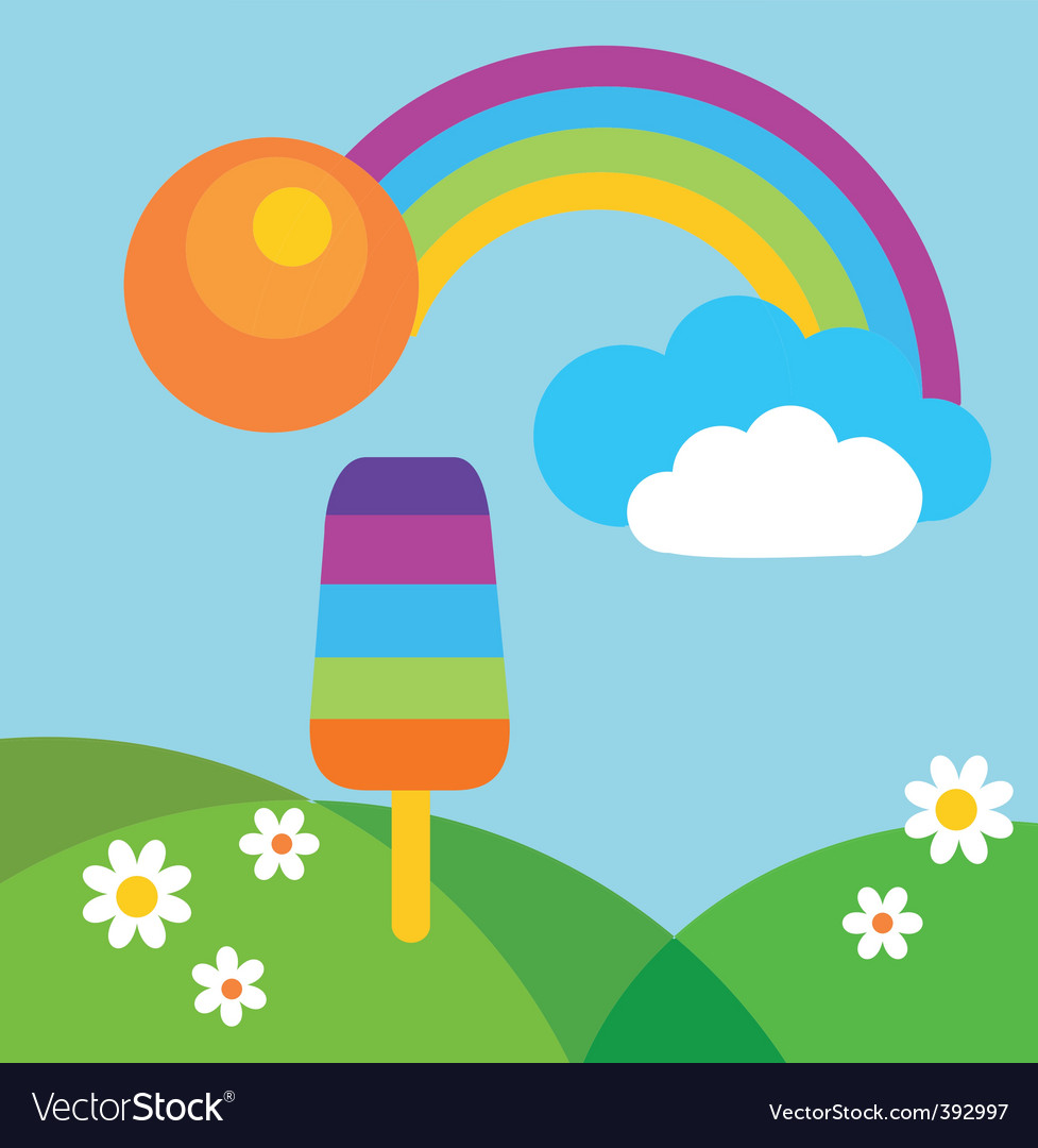 Popsicle in summer vector image