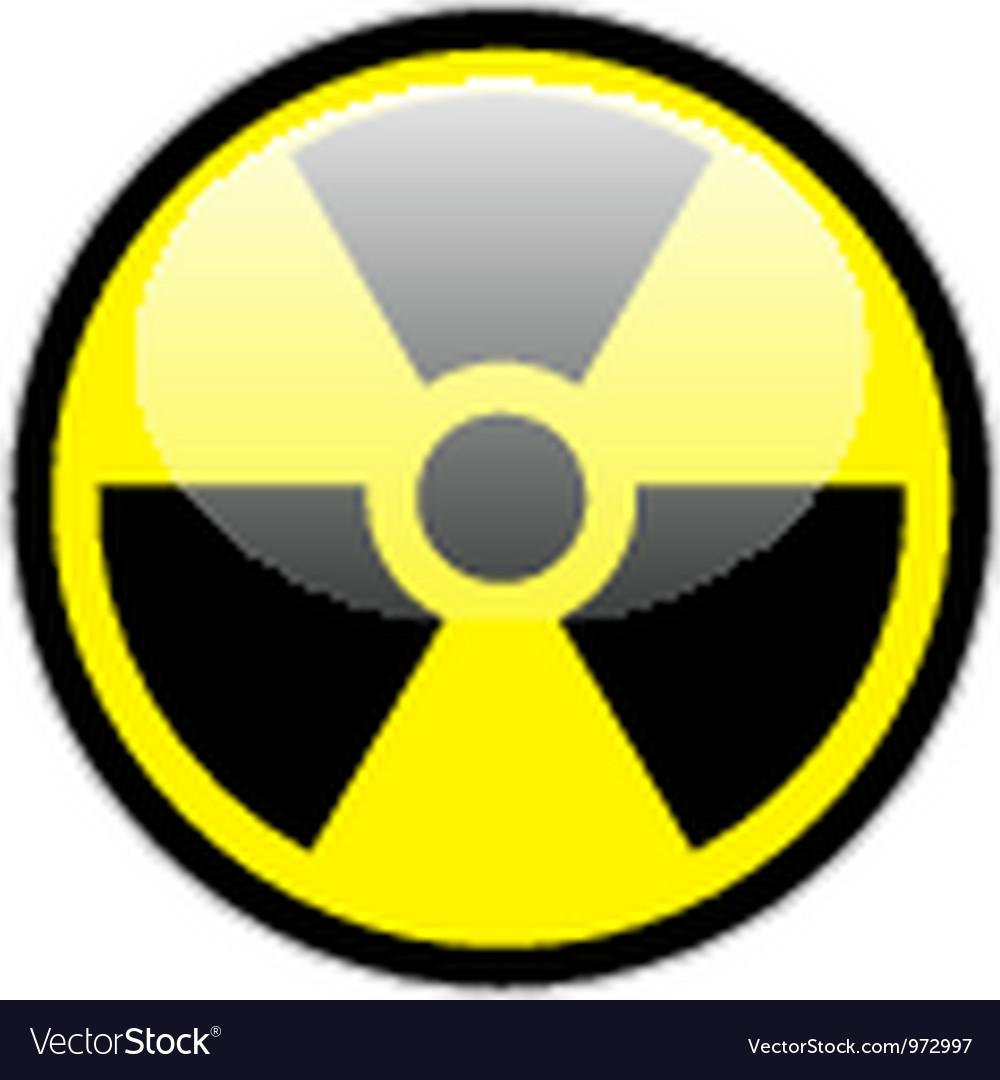 Radiation Symbol Royalty Free Vector Image Vectorstock