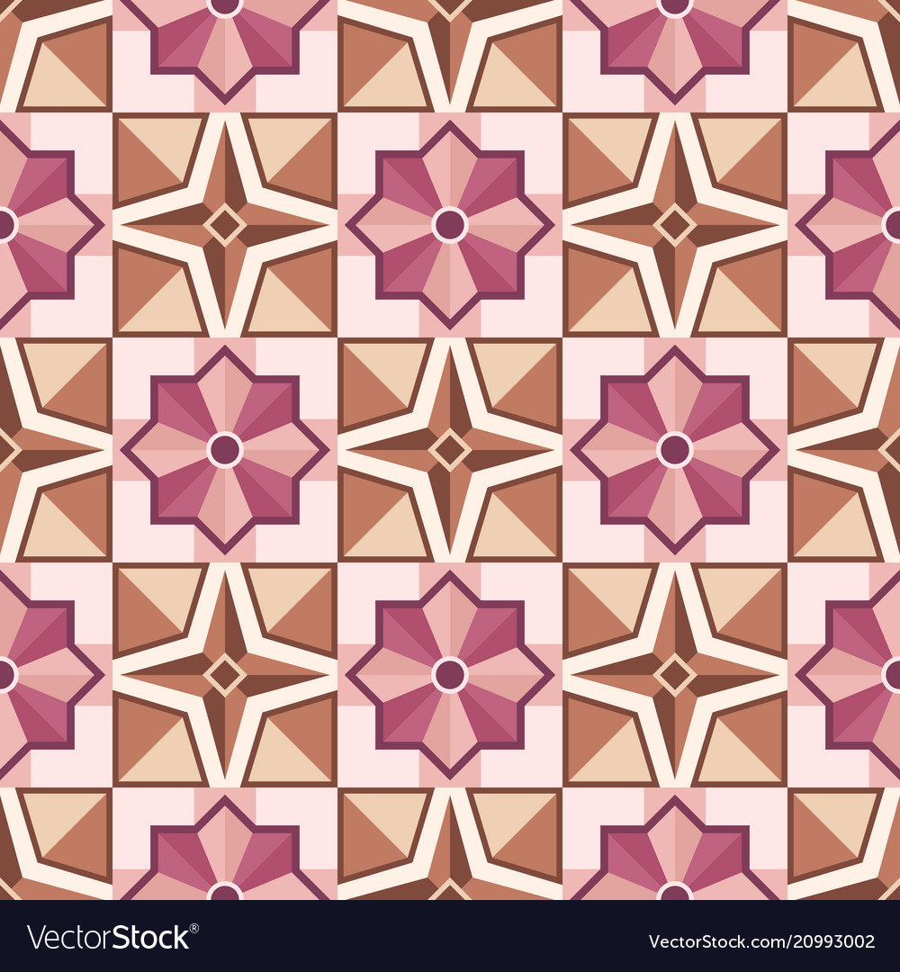 Abstract mosaic tile pattern with geometric shape