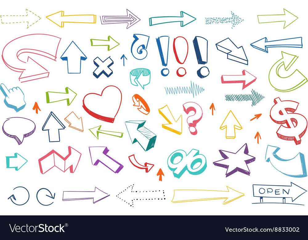 Arrows drawing set