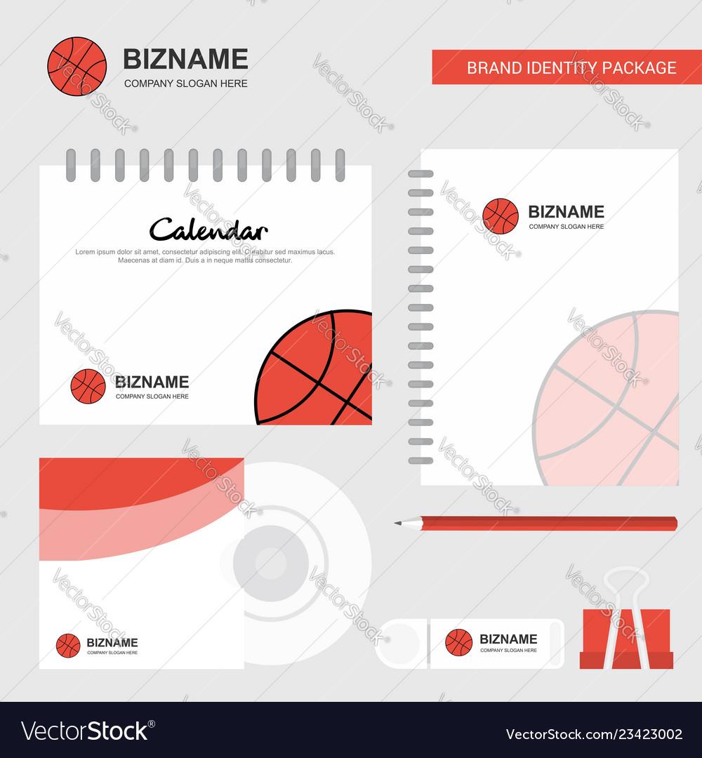 Basket ball logo calendar template cd cover diary