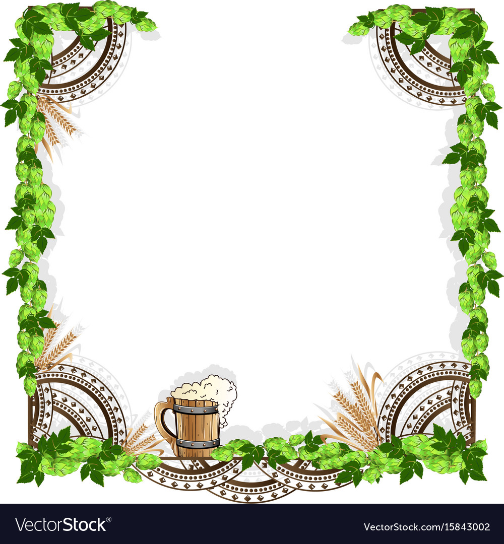 Beer frame with vintage elements Royalty Free Vector Image