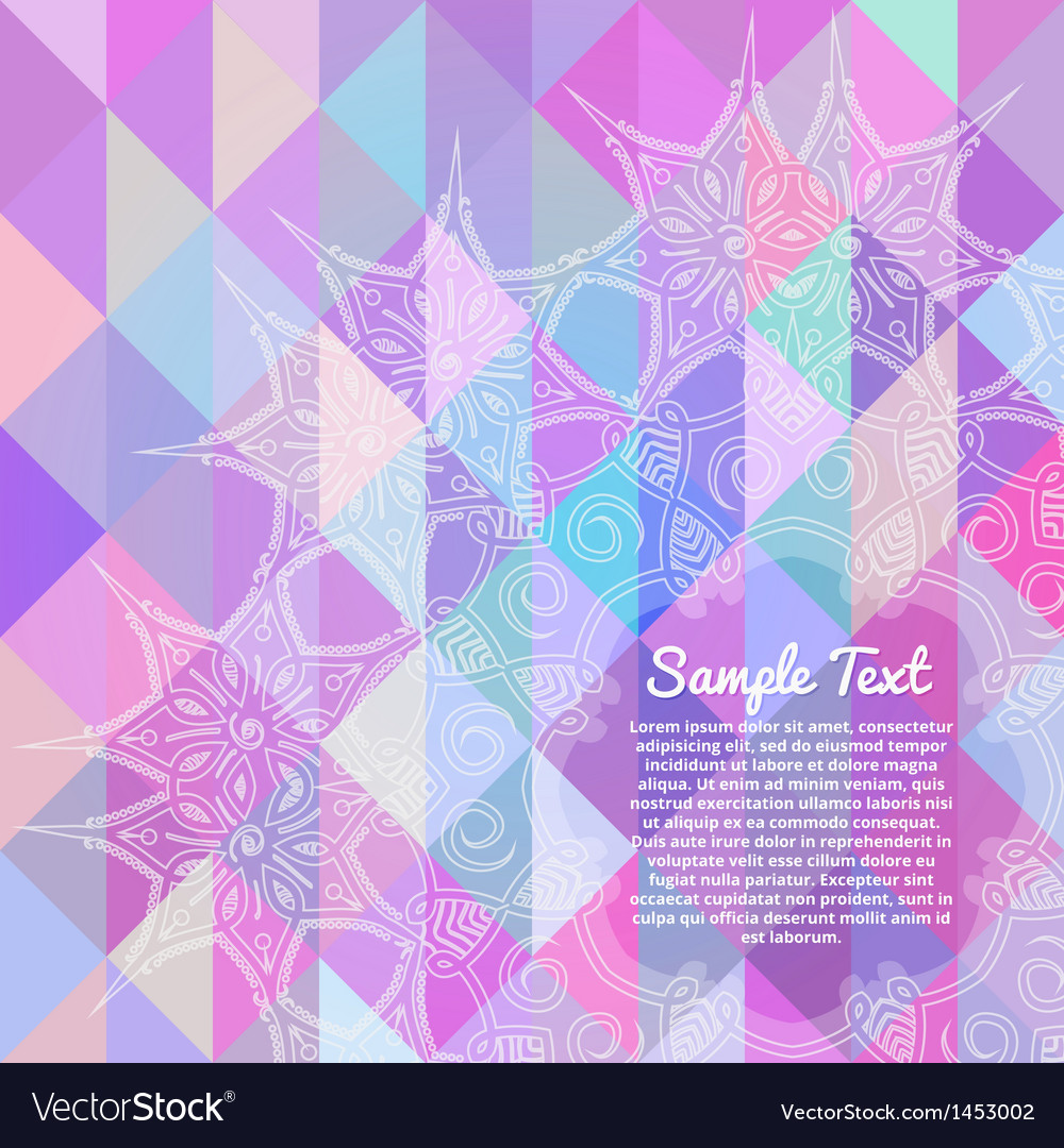 Invitation card with abstract geometric background