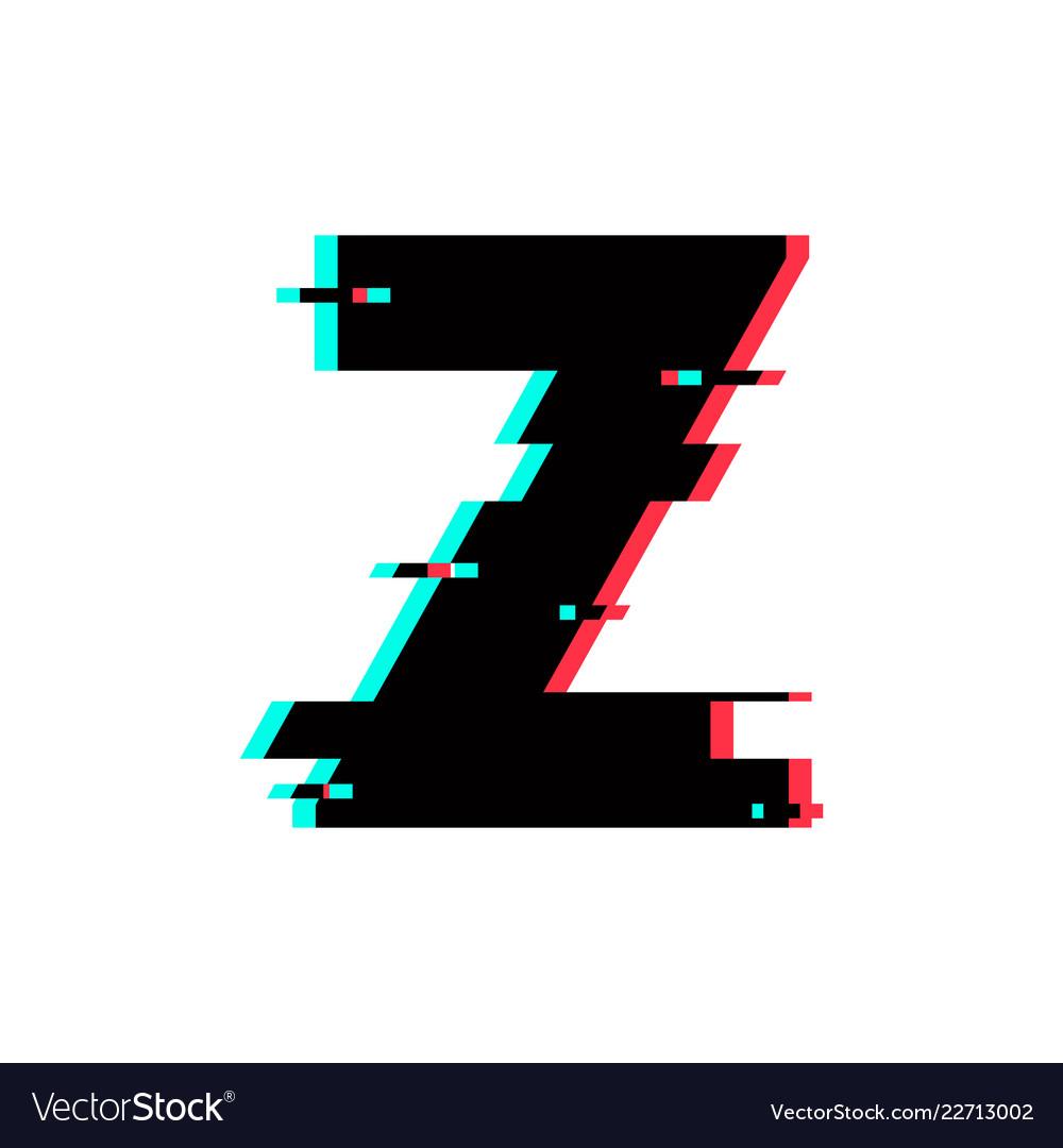 Letter Z Pictures.Logo Letter Z Glitch Distortion