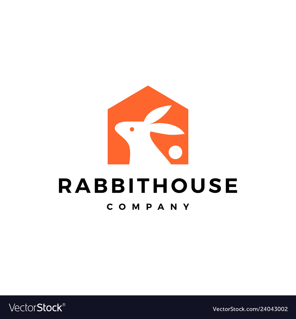 Rabbit house home logo icon