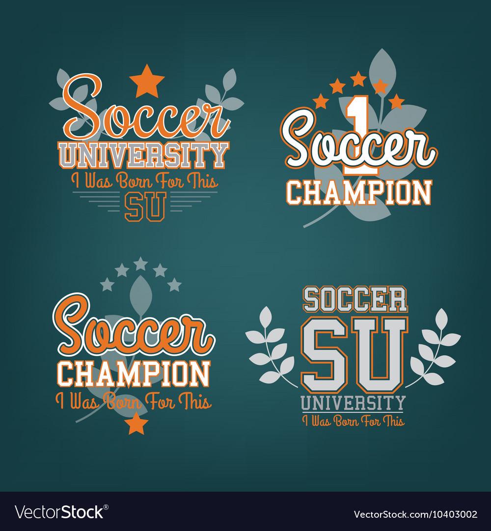 Soccer Badges Set