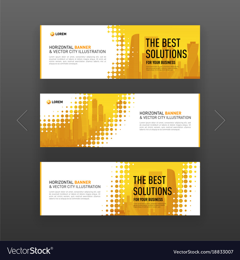 abstract corporate web slideshow or banner layout vector image