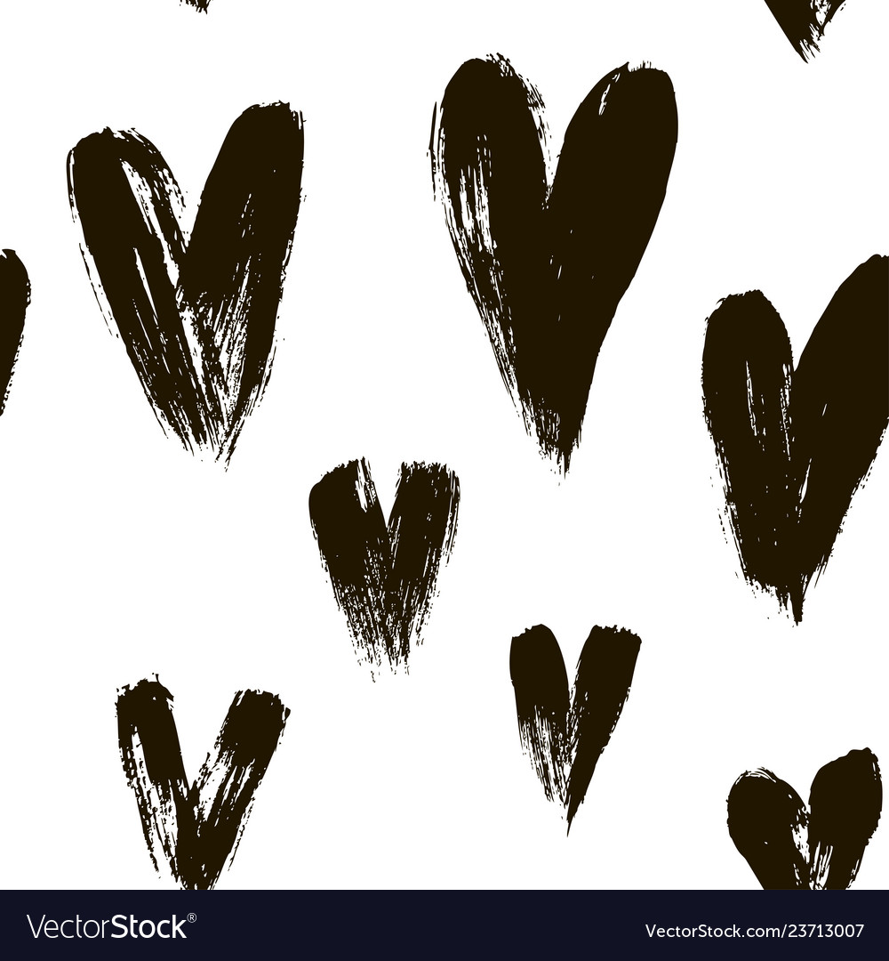 Beautiful seamless pattern of hearts