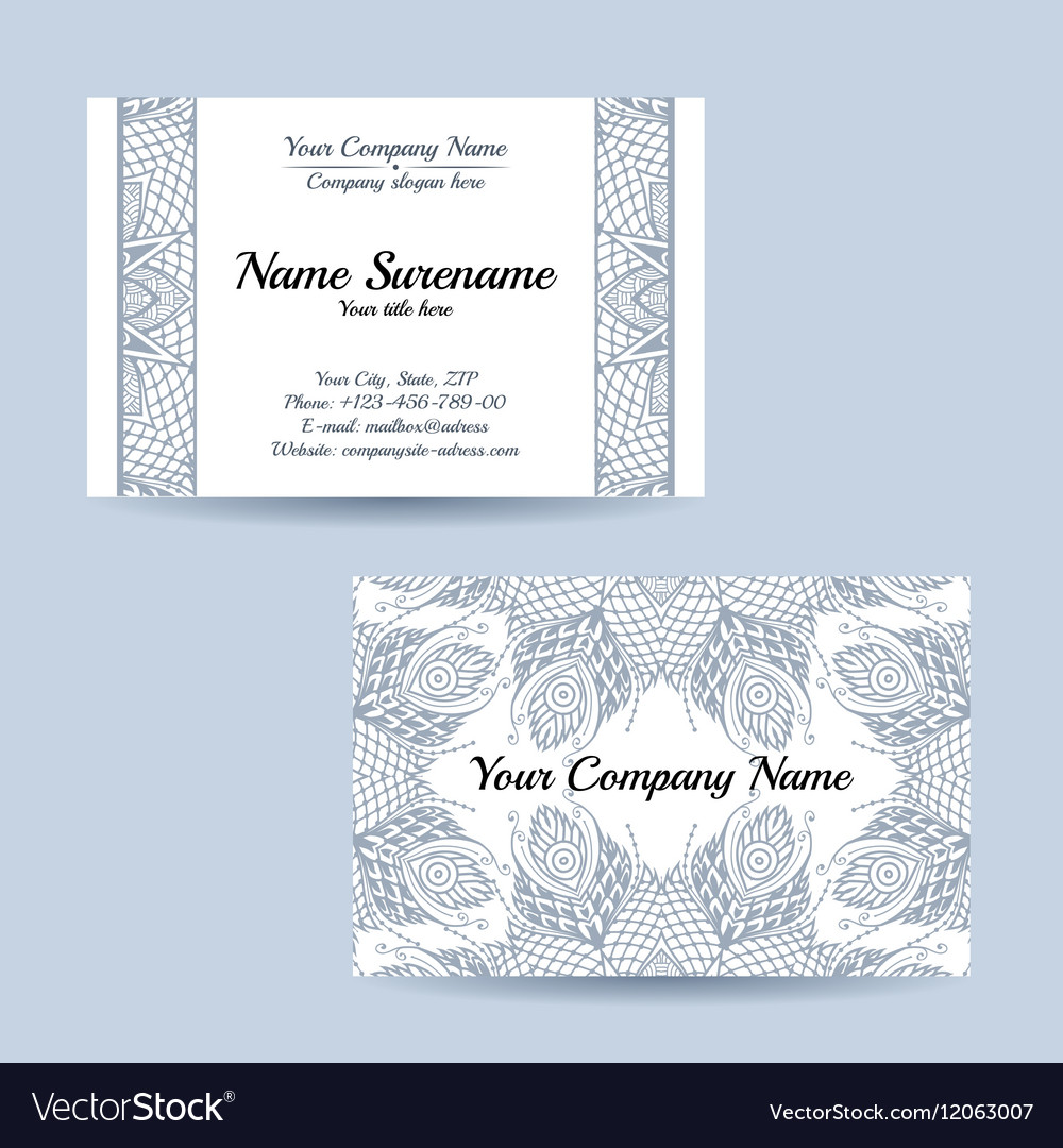 Double-sided ornamental business card