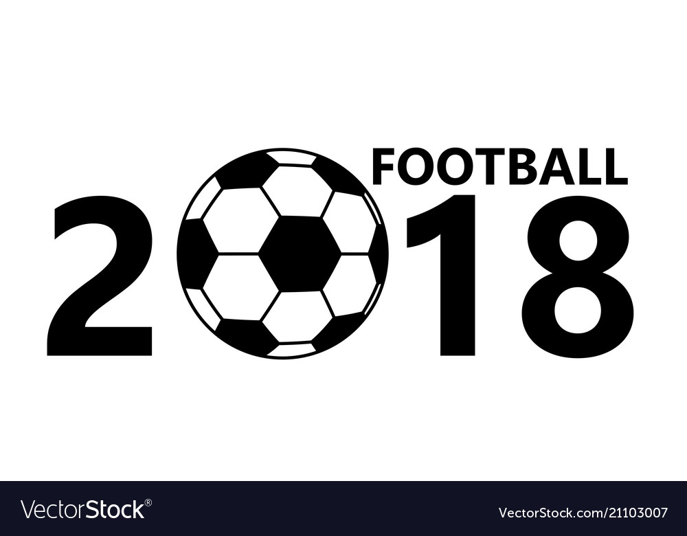 Football soccer ball icon on white background vector image