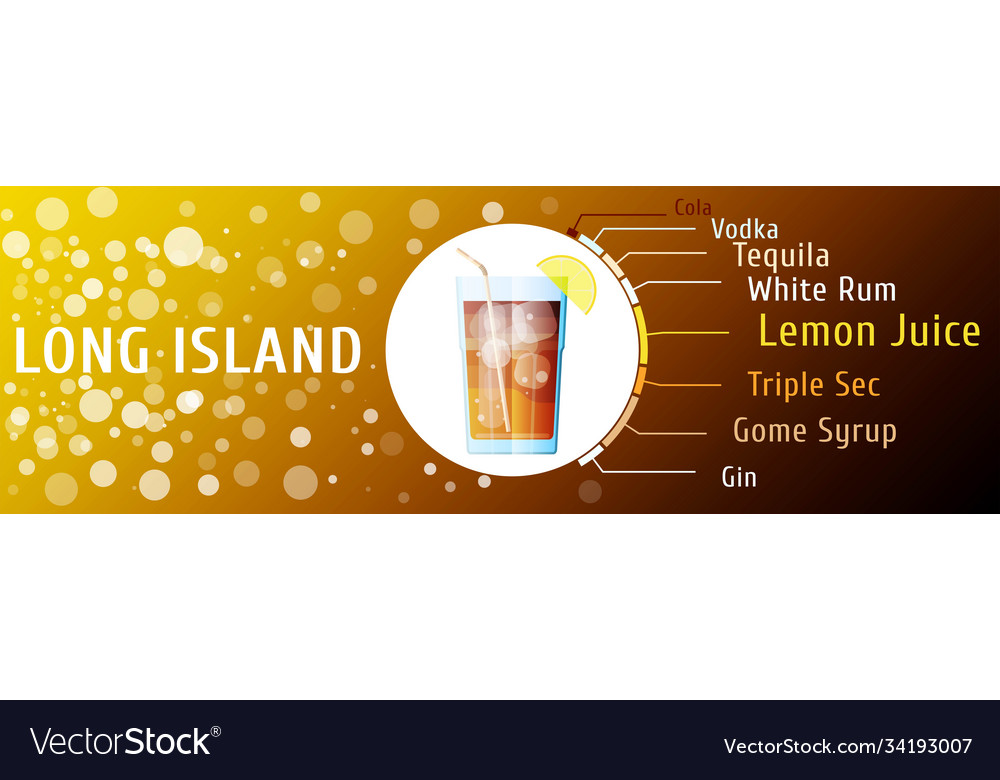 Long island iced tea cocktail ingredients