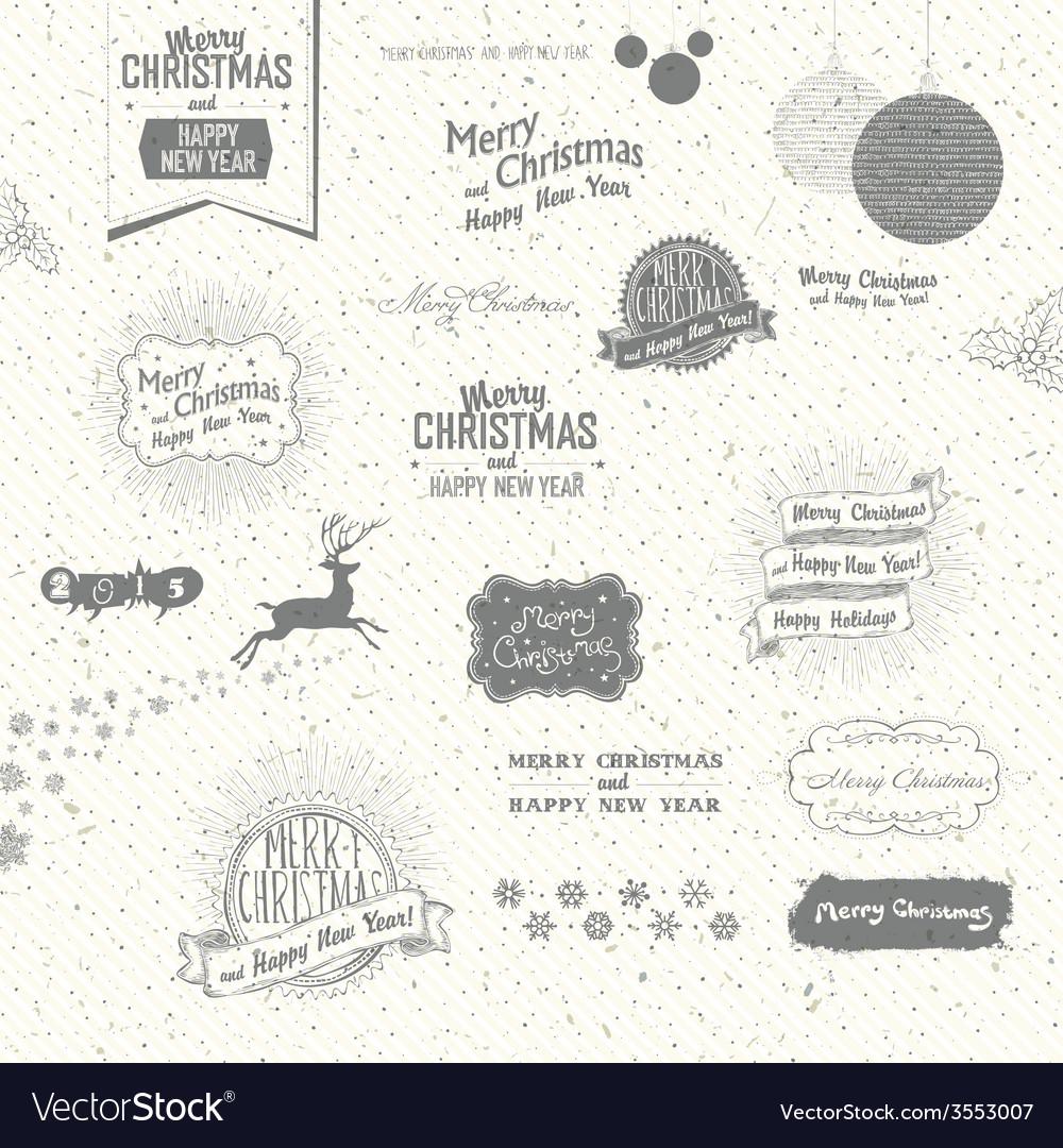 Many christmas elements