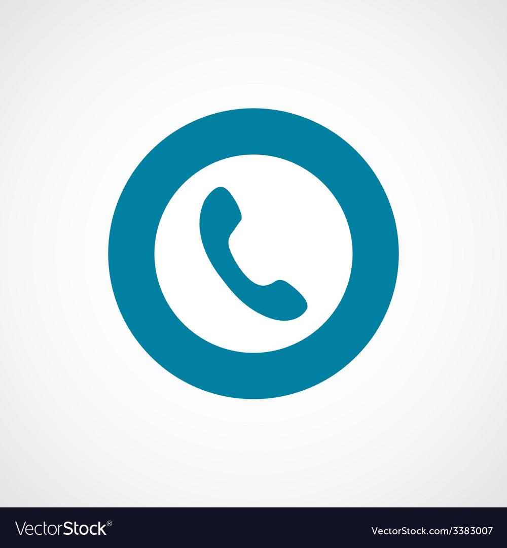 Phone bold blue border circle icon
