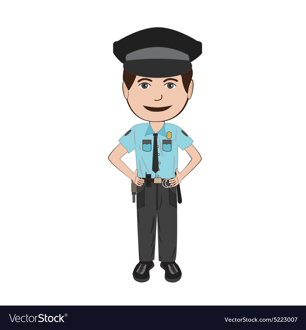 Policeman Royalty Free Vector Image
