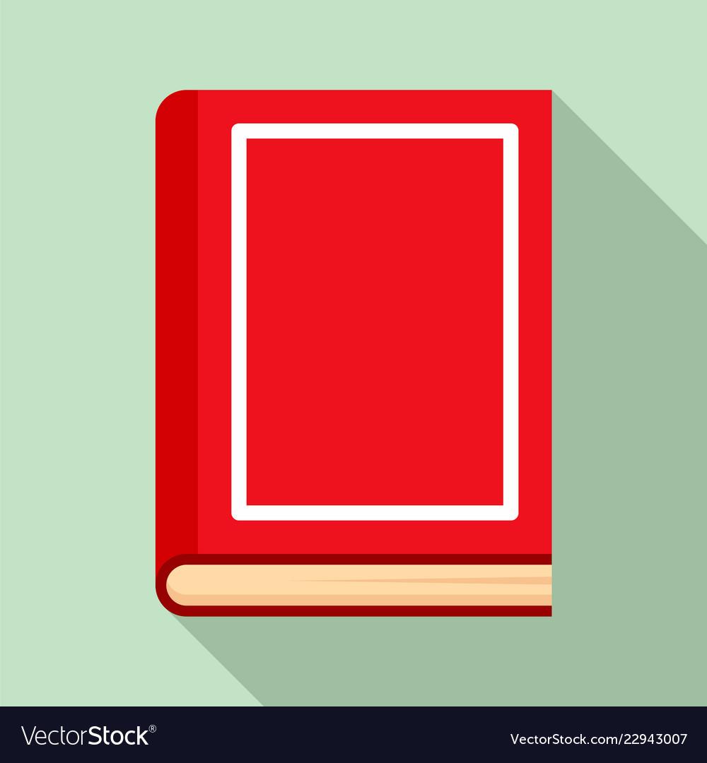 School book icon flat style