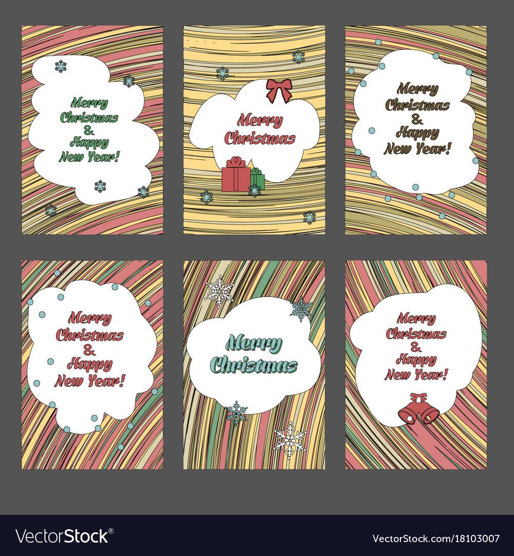 Set christmas cards vector image