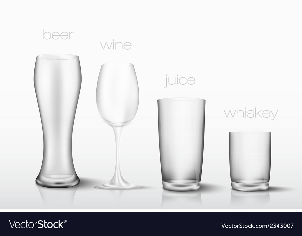 Set of glasses for drinks
