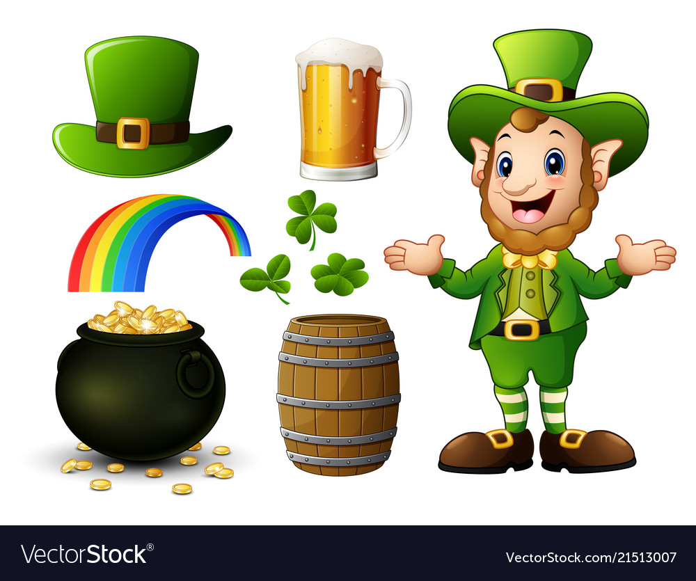 St Patricks Day Elements Collection Royalty Free Vector
