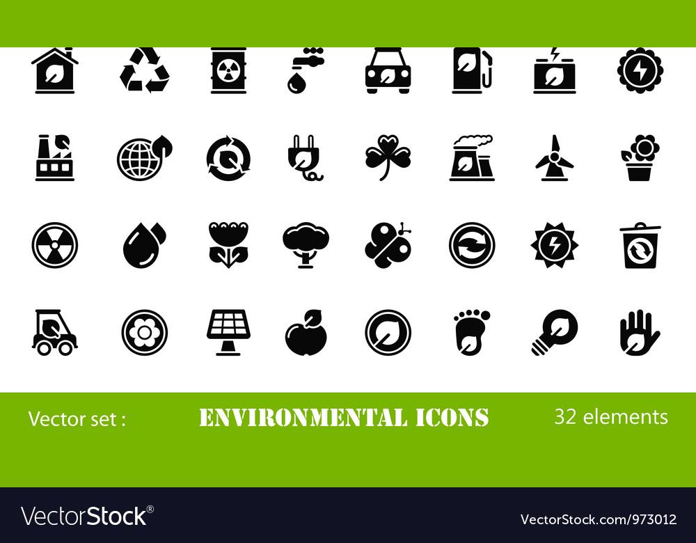 32 environmental icons
