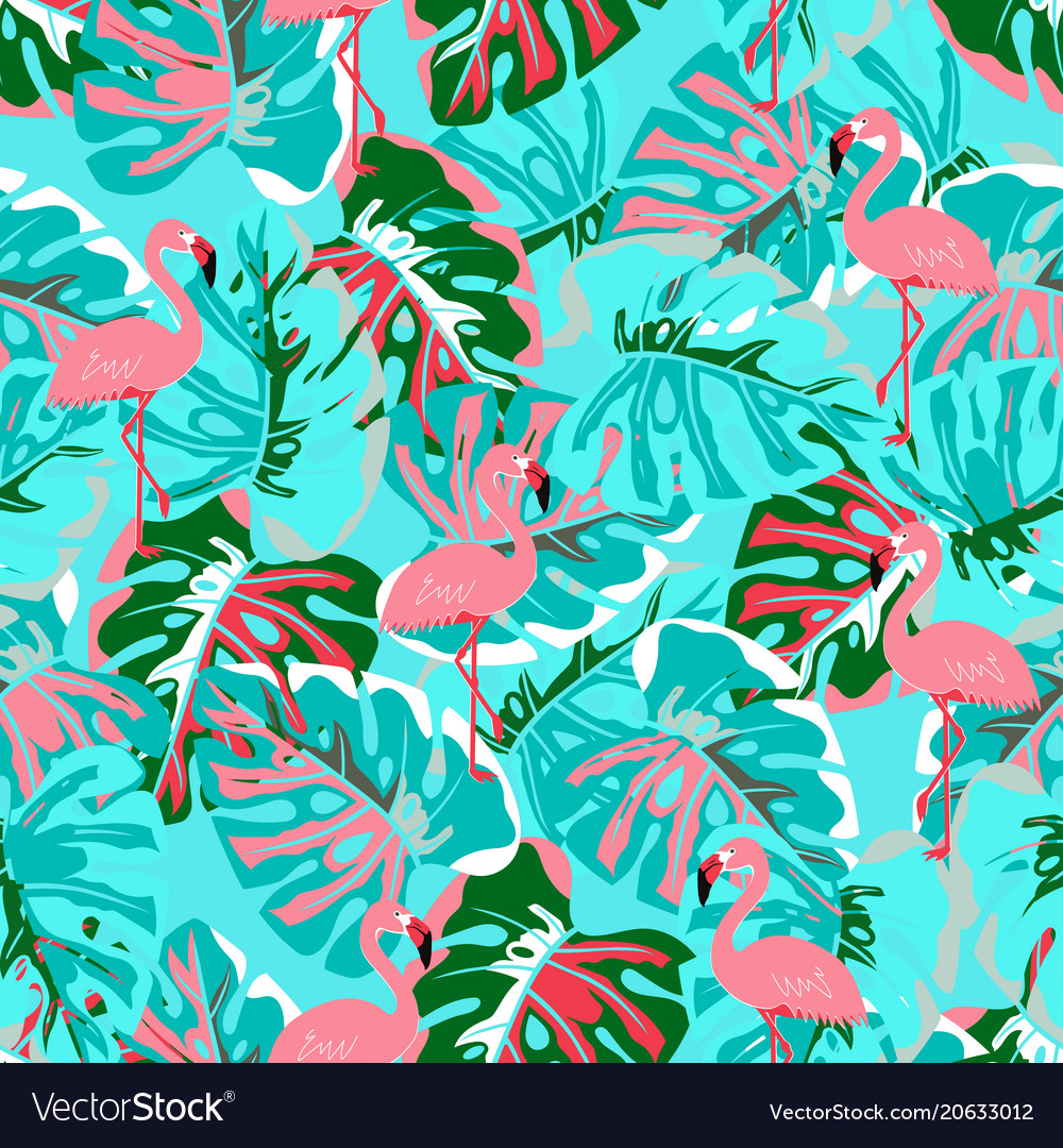 Abstract flamingo pattern