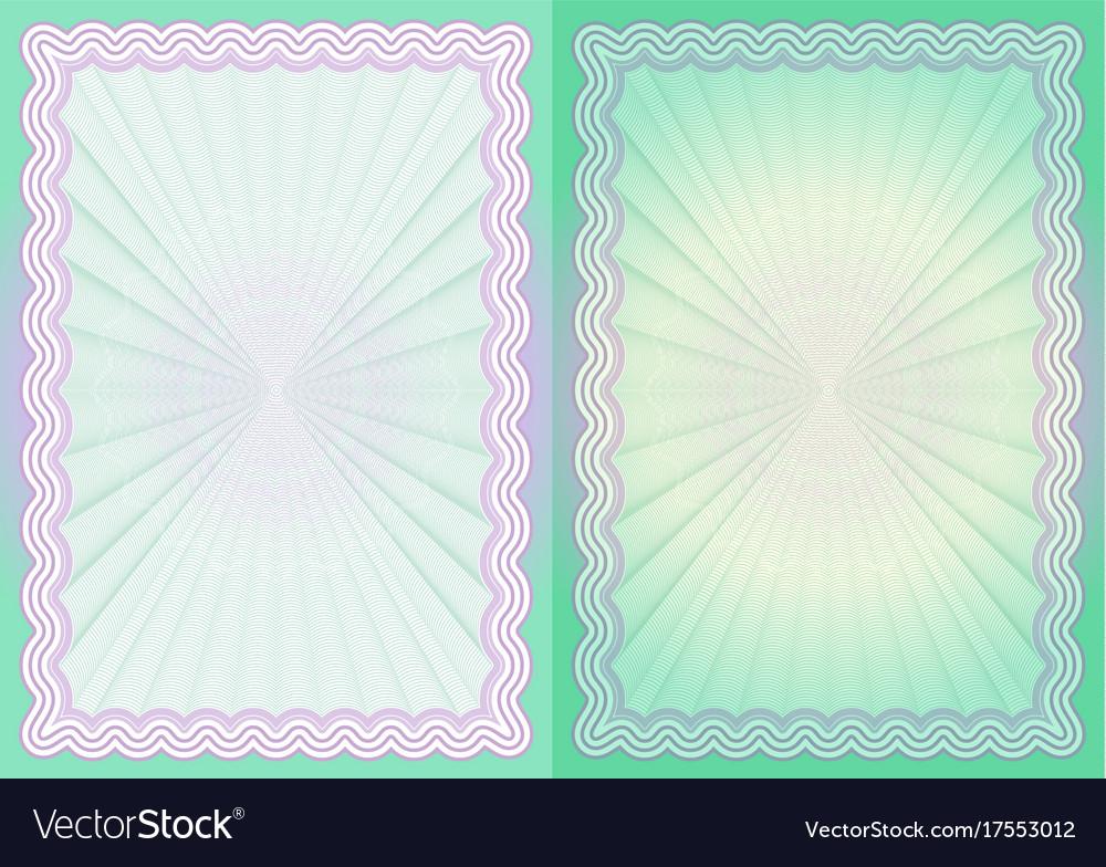 Certificate paper vector image