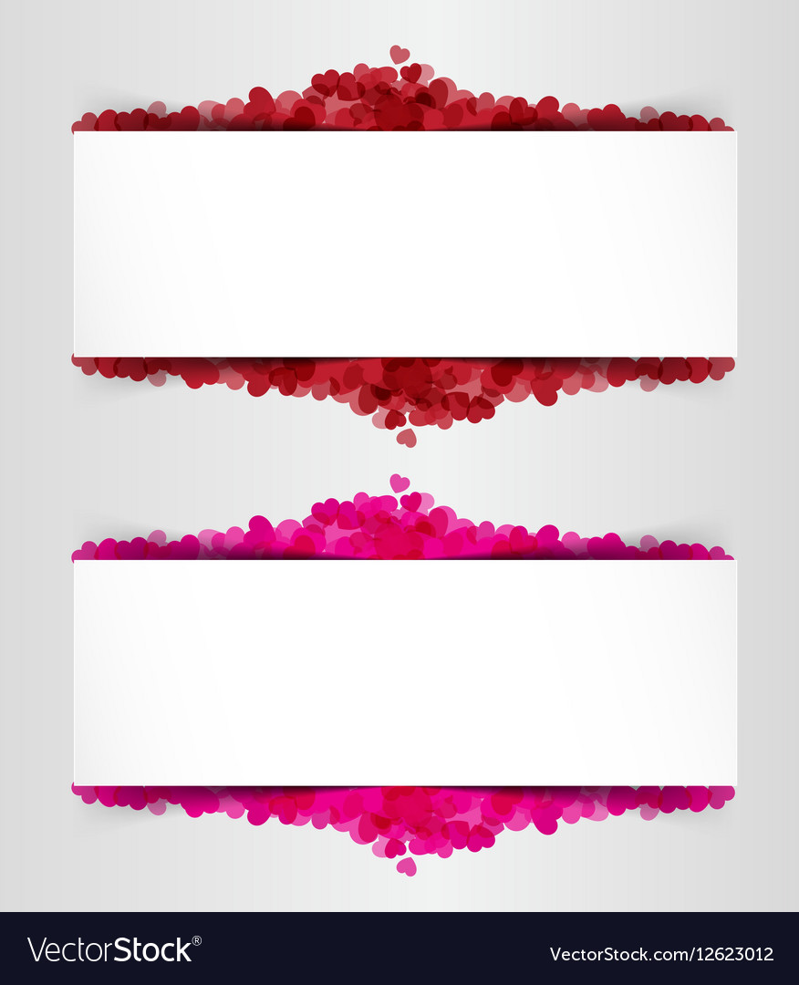 Design Template Heart for Valentines Day Backgroun