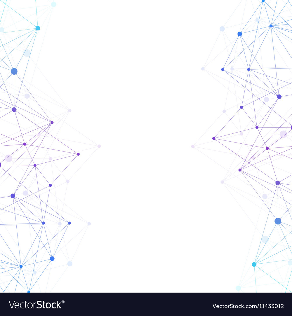 Geometric abstract background with connected line