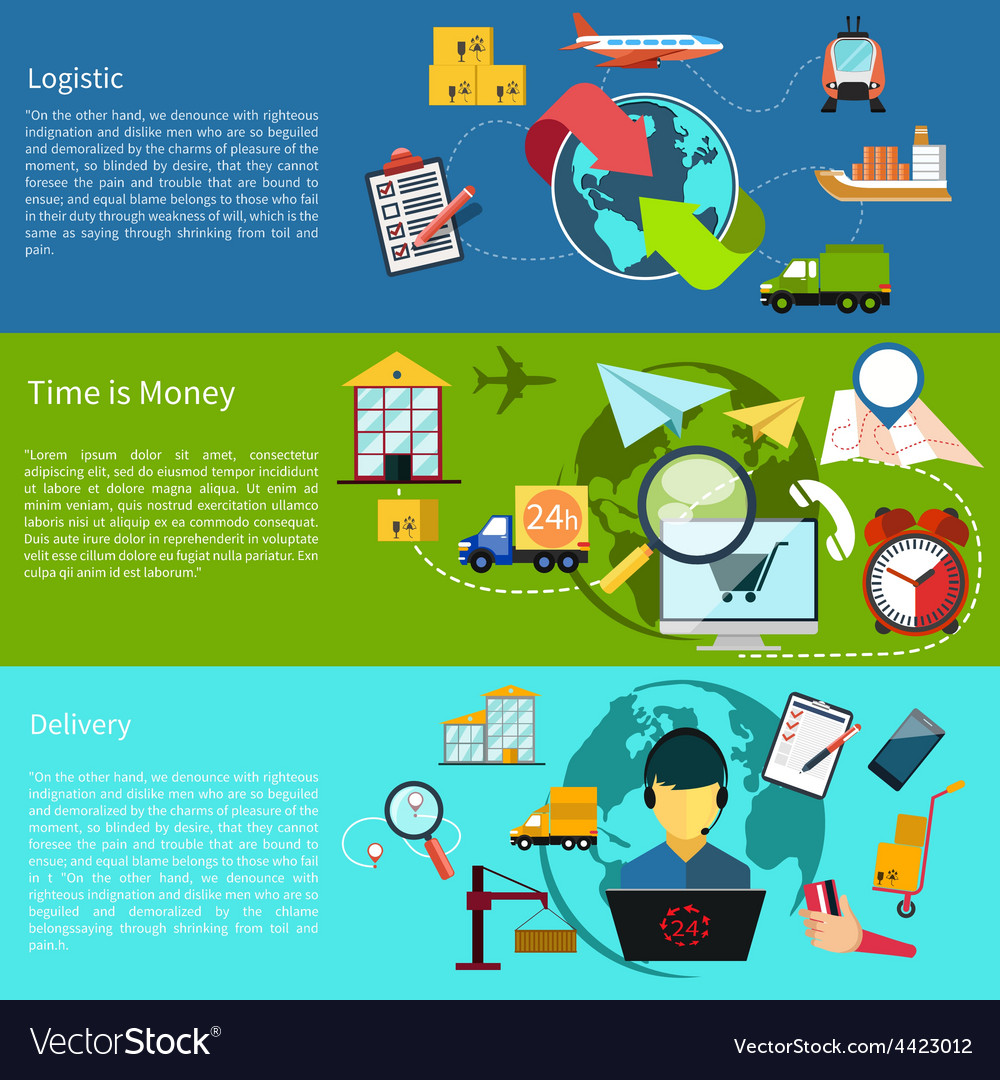 Logistic time is money and delivery