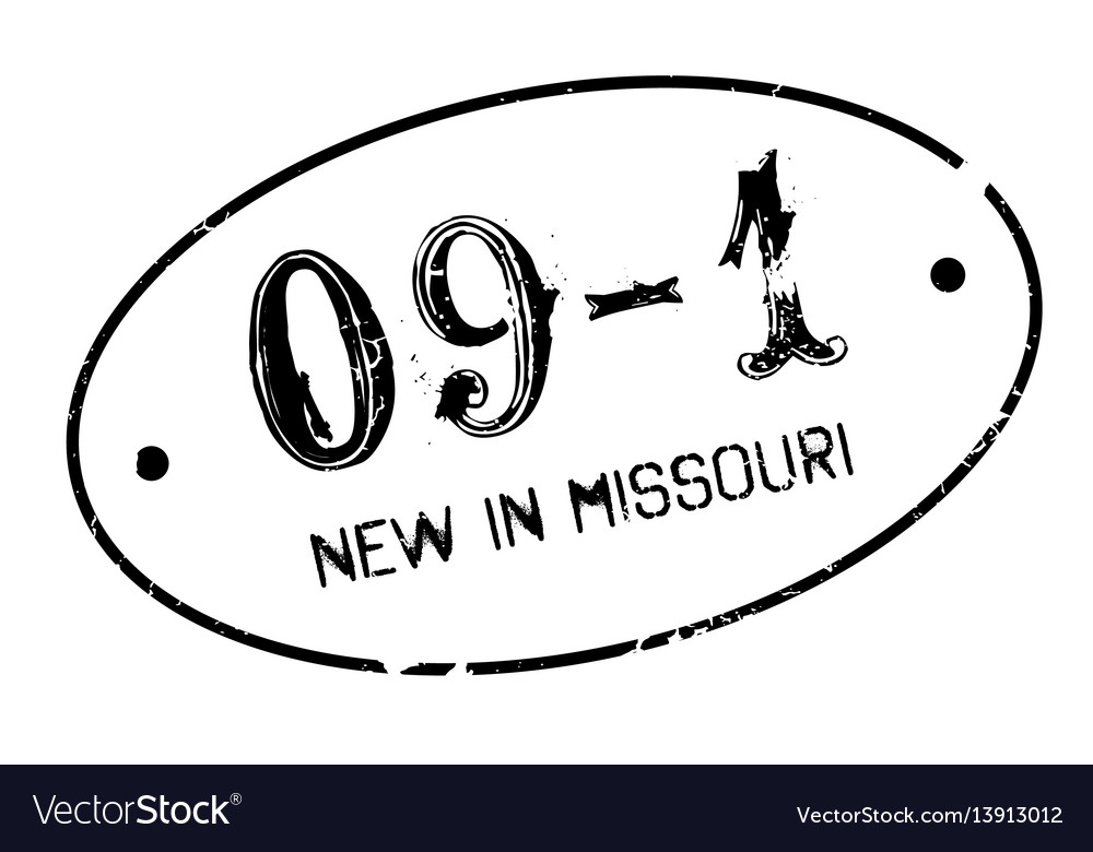 New in missouri rubber stamp vector image
