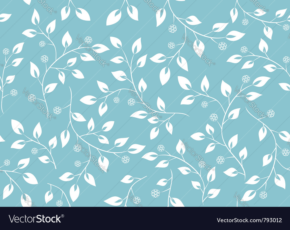 Seamless Light Blue Floral Texture Royalty Free Vector Image