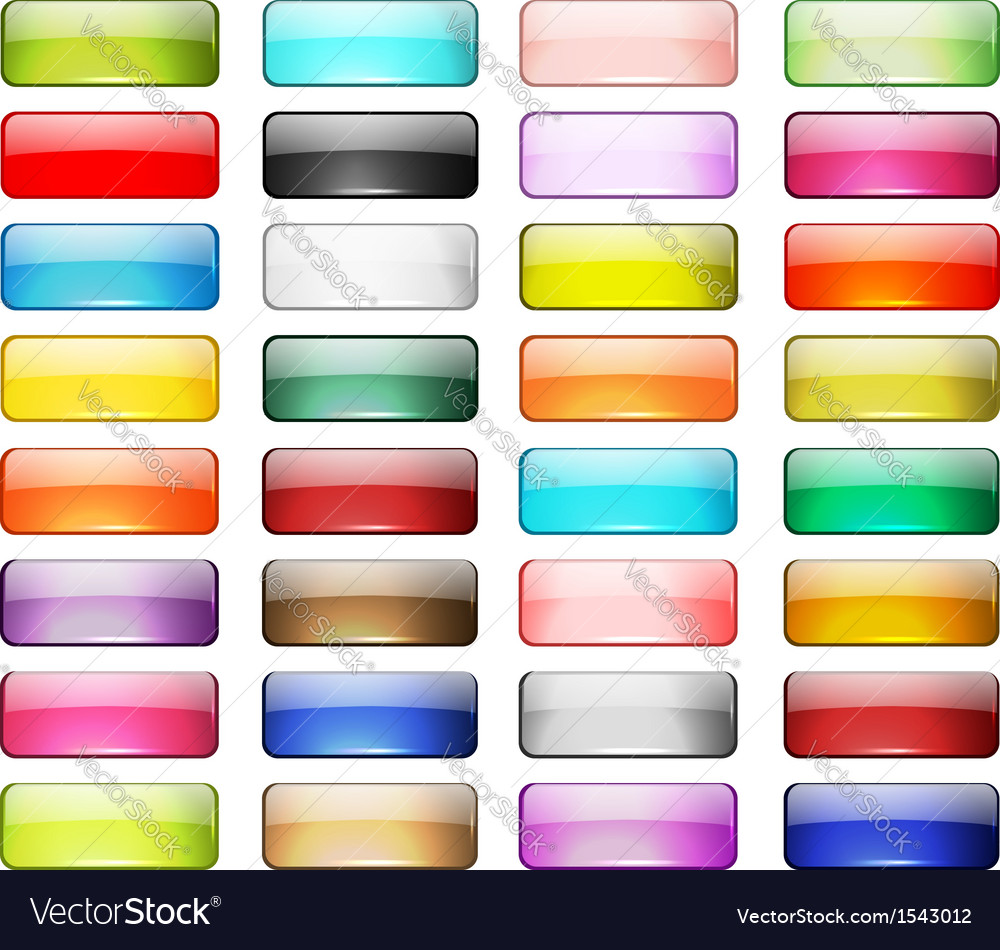 Set of glossy button icons for your design vector image