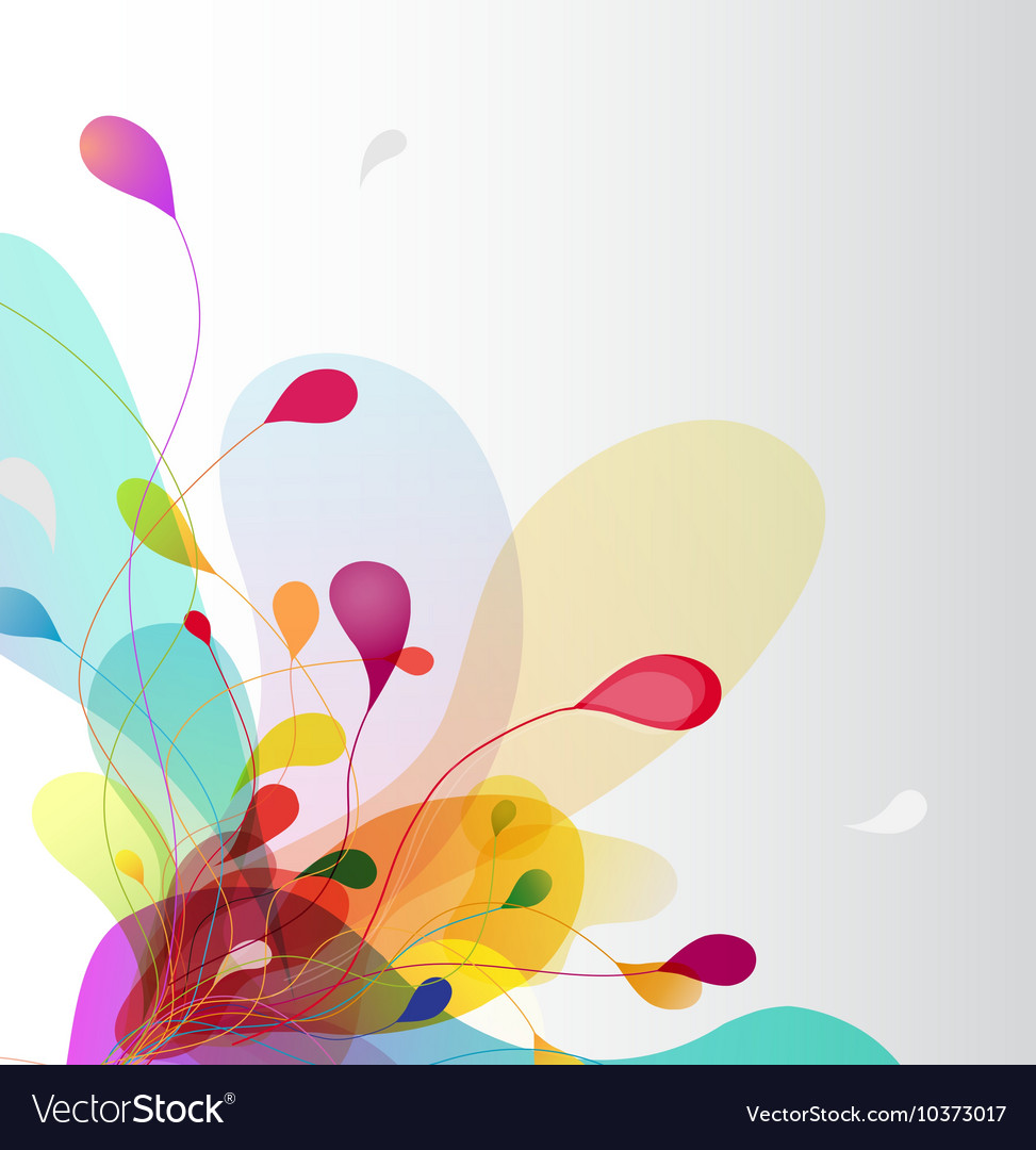 Abstract colored background with leafs